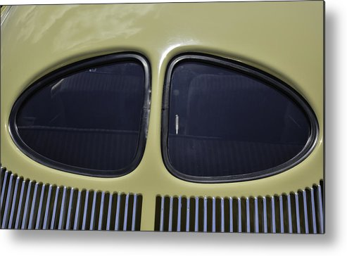 Car Metal Print featuring the photograph Split Rear Window by Laurence Levine