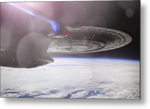 Star Trek Metal Print featuring the photograph Star Trek - A New Civilization by Jason Politte