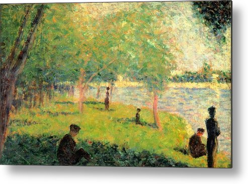 Art Metal Print featuring the painting Study On La Grande Jatte by Georges Seurat