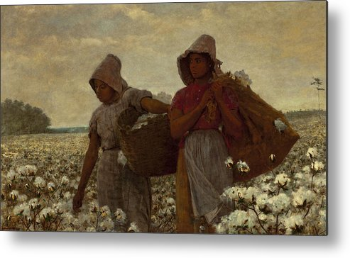 The Cotton Pickers Metal Print featuring the digital art The Cotton Pickers by Winslow Homer