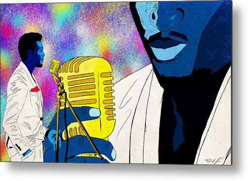 Art Of Soul Music Metal Print featuring the drawing The Soul Singer by Kenal Louis