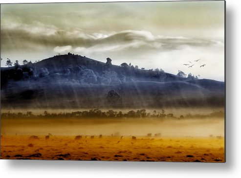 Landscapes Metal Print featuring the photograph Whisps Of Velvet Rains... by Holly Kempe