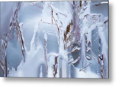 Winter Metal Print featuring the painting Winterland by Kume Bryant
