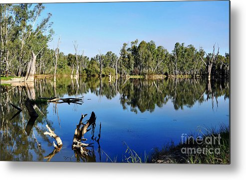 Photography Metal Print featuring the photograph By The River by Kaye Menner