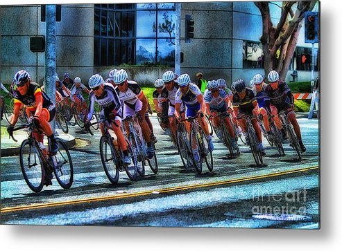 Dominguez Hill Metal Print featuring the photograph Dominguez Hill Bikes by Clare VanderVeen