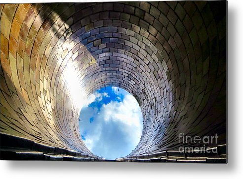 Silo Metal Print featuring the photograph Down The Hole by Art Dingo