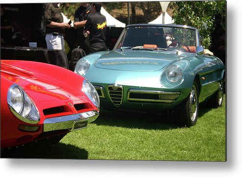 Alfa Romeo Duetto Metal Print featuring the photograph Nice Neighbors by Fred Russell