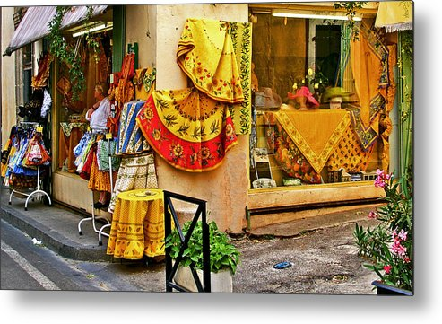 Provence Metal Print featuring the photograph Pretty Shop In Provence by Christine Burdine