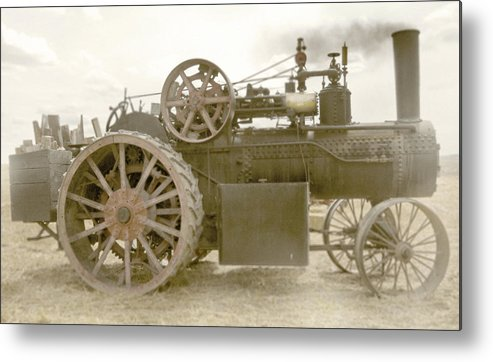 Tractor Metal Print featuring the photograph Steam Tractor by Kevin Felts