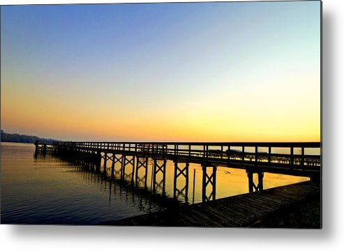 Sunrise Metal Print featuring the photograph Sunrise At The Marina by Jessica Brooks