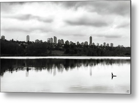 City Metal Print featuring the photograph Contemplating Contrasts by Lisa Knechtel
