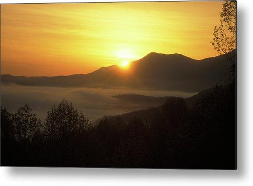 National Park Metal Print featuring the photograph Smoky Mountain Sunrise by John Burk