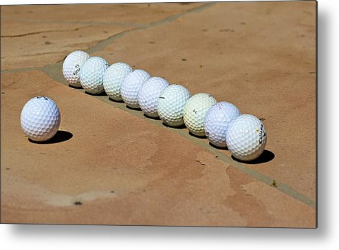 Golf Metal Print featuring the photograph Tee Time by Barbara Zahno