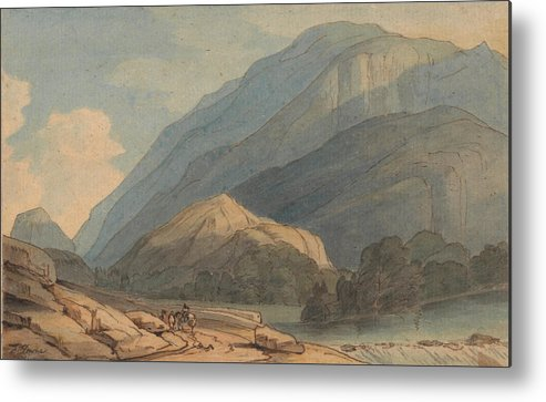 Francis Towne - The Entrance Into Borrowdale Metal Print featuring the painting The Entrance Into Borrowdale by MotionAge Designs
