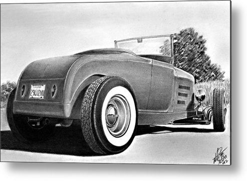 Transportation Metal Print featuring the drawing 29 Ford by Lyle Brown