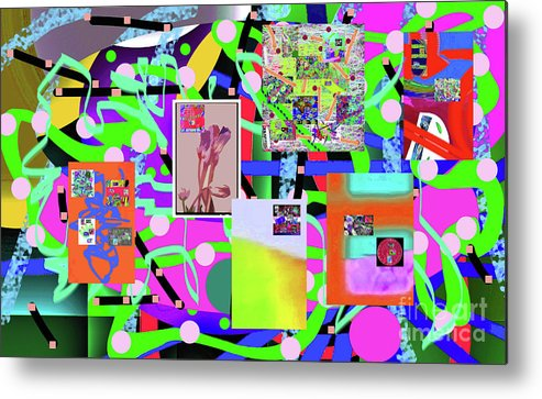 Walter Paul Bebirian Metal Print featuring the digital art 3-3-2016abcdefghijklmnopqrtuvwxyzabcde by Walter Paul Bebirian