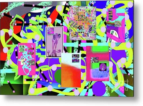 Walter Paul Bebirian Metal Print featuring the digital art 3-3-2016abcdefghijklmnopqrtuvwxyzabcdefghij by Walter Paul Bebirian
