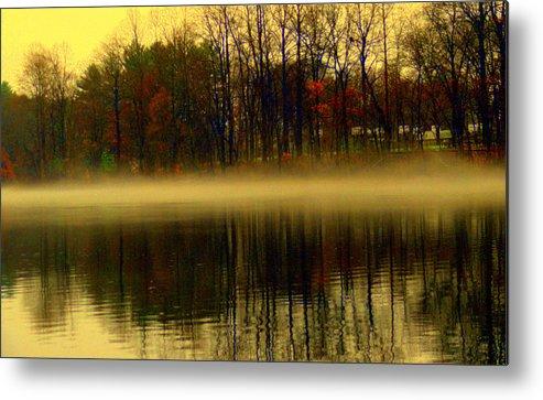 Lake View Metal Print featuring the digital art Autumn Lake by Aron Chervin