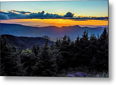 Mount Metal Print featuring the photograph Mount Mimtchell Sunset Landscape In Summer by Alex Grichenko
