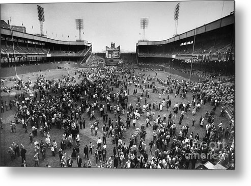 1957 Metal Print featuring the photograph New York: Polo Grounds by Granger