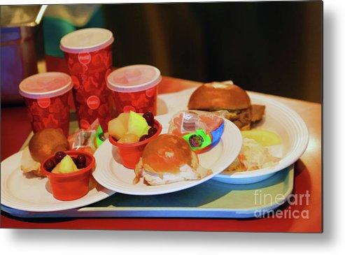 California Adventure Metal Print featuring the photograph 50's Style Food Malt Hamburger Tray by Chuck Kuhn