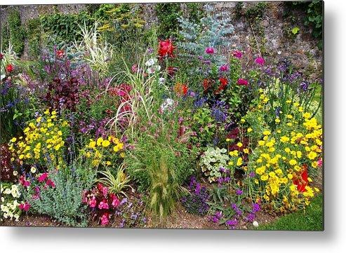 Garden Metal Print featuring the photograph A Blaze Of Colour by Veron Miller