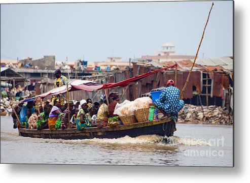 Benin Metal Print featuring the photograph Boat Taxi II by Irene Abdou