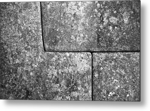 Machu Picchu Metal Print featuring the photograph Brick Joints by Marcus Best
