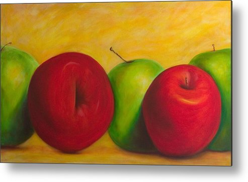Still Life Metal Print featuring the painting Cancan by Shannon Grissom
