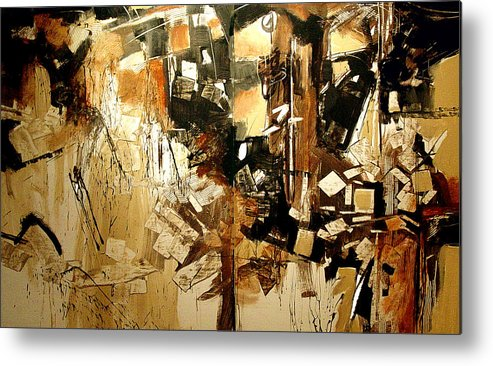 Abstract Metal Print featuring the digital art Cliff Face by Dale Witherow