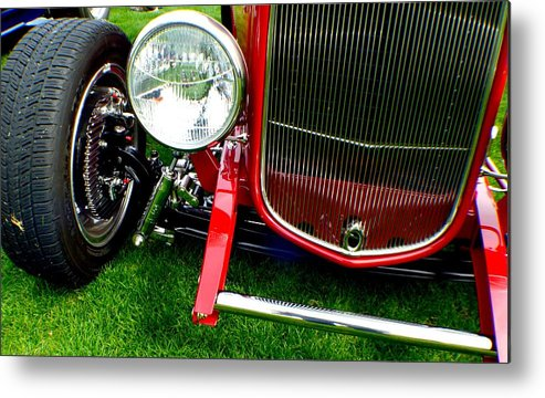 Hot Rod Metal Print featuring the photograph Close Up by Barbara Angle