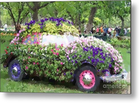 Cars Metal Print featuring the photograph Flower Power by Debbi Granruth