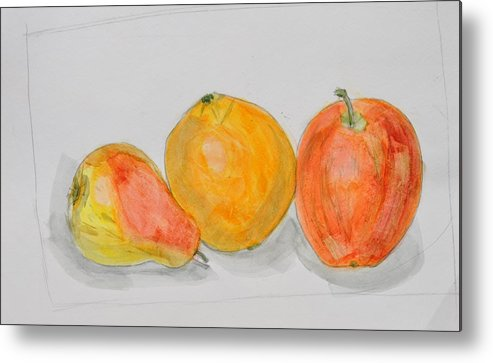 Still Life Metal Print featuring the painting Fruit Still Life by Jonathan Galente