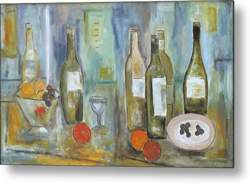 Abstract Metal Print featuring the painting Happy Hour II by Trish Toro