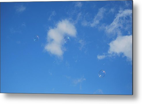 Bubbles Metal Print featuring the photograph In The Clouds by Marilynne Bull