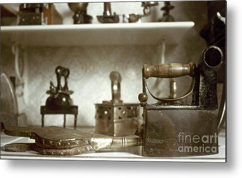 -domestic- Metal Print featuring the photograph Iron, 19th Century by Granger