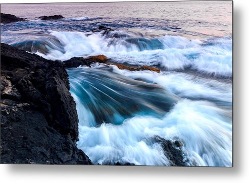 Ocean Metal Print featuring the photograph Lava Tubes by Michael Medina