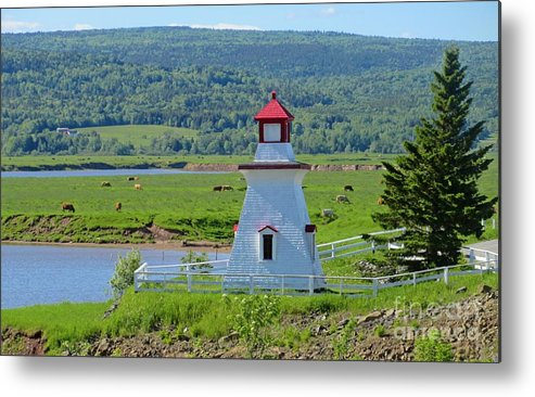 Lighthouse Landscape Metal Print featuring the photograph Lighthouse Landscape Three by Crystal Loppie