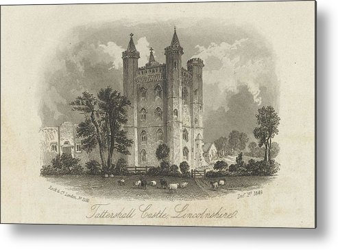 Nature Metal Print featuring the painting London Tattershall Castle, Lincolnshire. Published 1 Dec 1849 by Lincolnshire