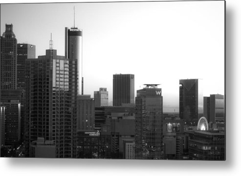 Black And White Metal Print featuring the photograph Monochrome City by Mike Dunn