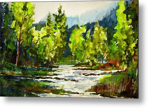Metal Print featuring the painting Morning On The River by Wilfred McOstrich