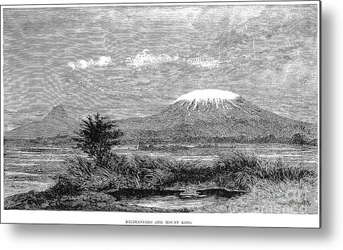 1884 Metal Print featuring the photograph Mount Kilimanjaro, 1884 by Granger