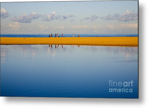 Dunes Lowry Sand Sky Reflection Sun Lifestyle Narrabeen Australia Metal Print featuring the photograph Narrabeen Dunes by Avalon Fine Art Photography