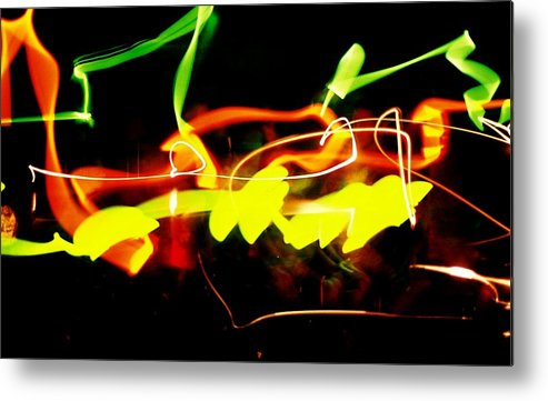 Abstract Metal Print featuring the photograph Photo Fun Two by Ronald Walker