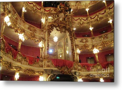 Munich Metal Print featuring the photograph Residenz Theatre 5 by Randall Weidner