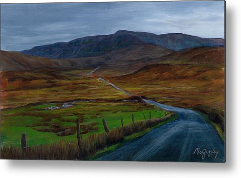 Landscape Metal Print featuring the painting Road To Glenveagh by Laurie McGinley