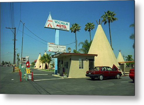 66 Metal Print featuring the photograph Route 66 - Wigwam Motel 3 by Frank Romeo