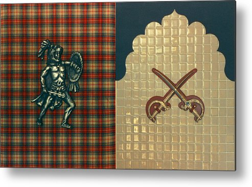 Conceptual Found Art Dada Pop Metal Print featuring the print Scottish Arabian by Paul Knotter
