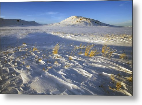 Winter Metal Print featuring the photograph Sculpted By The Wind by Mike Dawson