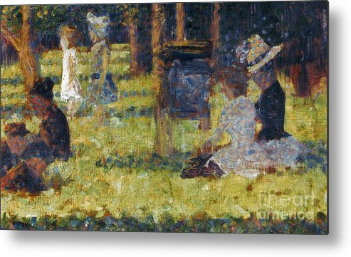 1884 Metal Print featuring the photograph Seurat: Grande Jatte, 1884 by Granger